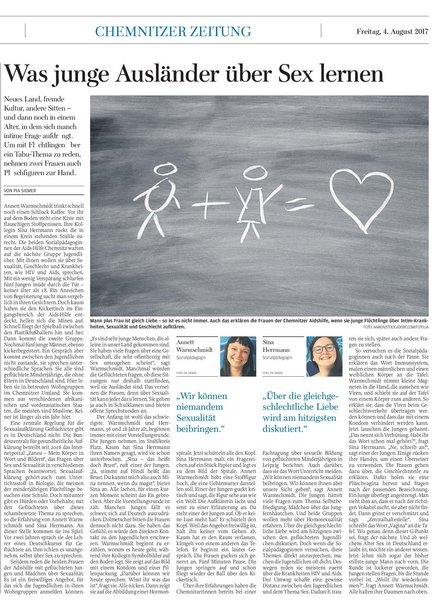 Freie Presse Chemnitz 04.08.2017