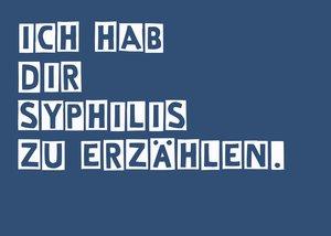Postkarte Syphilis